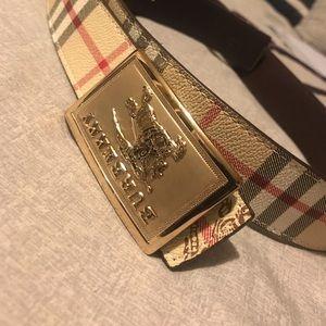 High Fashion Burberry Belt Men's